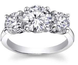 Large 3 Stone Diamond Ring